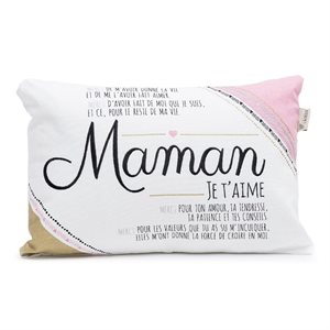 COUSSIN MAMAN ROSE ET OR