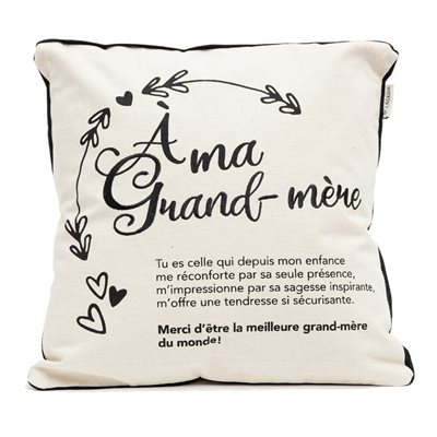 COUSSIN GRAND-MERE AVEC BRODERIE