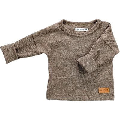 PULL TAUPE 4-6ANS