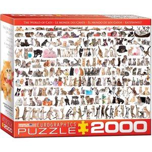 CASSE-TETE 2000 PIECES, MONDE DES CHATS